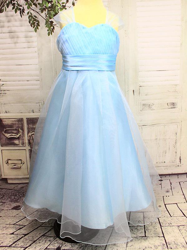01151 Платье /4=7/ голубой(Выставочный образец)