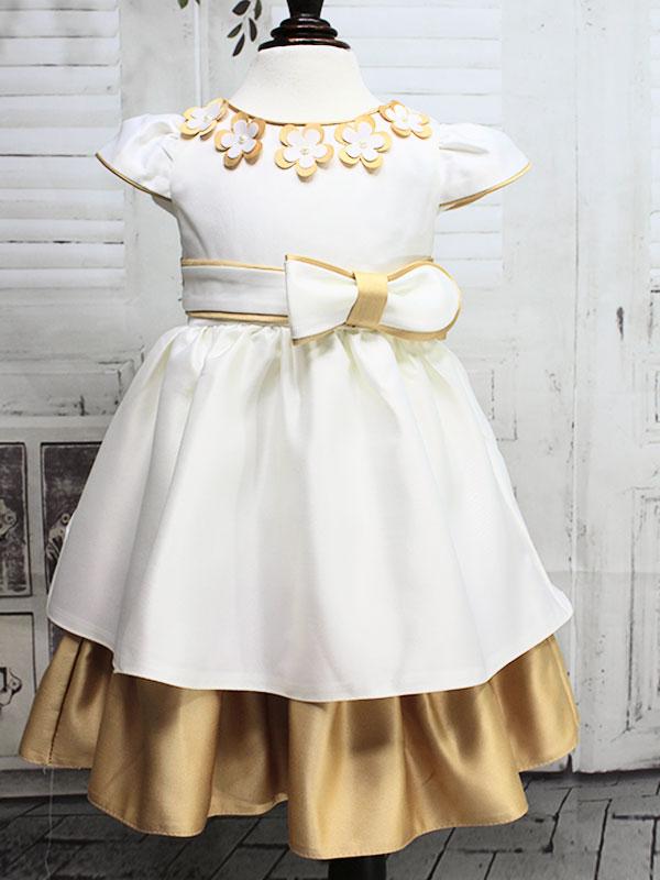 """01195 Платье """"двойная юбка"""" бежевый(Выставочный образец)"""