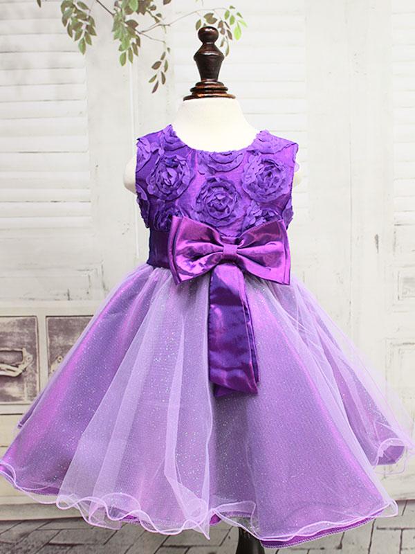 """01221 Платье """"розочки"""" фиолетовое"""