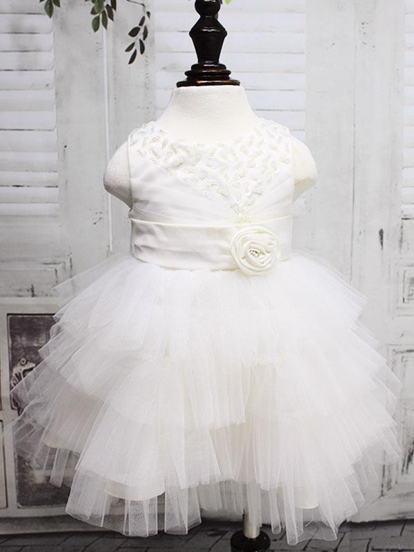 """01226 Платье """"Бисер пайетки"""" белый"""