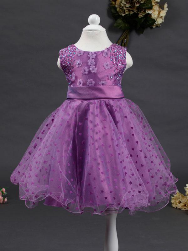 """01271 Платье """"Сердечки"""" фиолетовый"""