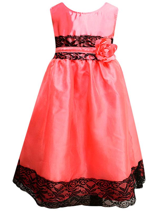 """01301 Платье""""Цветок"""" коралл"""