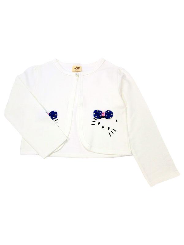 """01372  Болеро """"Kitty""""  белый"""